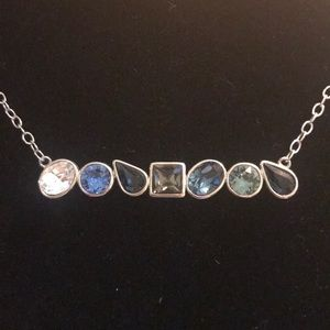 Nwt Summertime Blue Shades Necklace